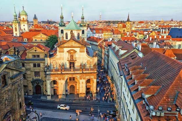 Igreja de são salvador na cidade velha de praga, república tcheca.