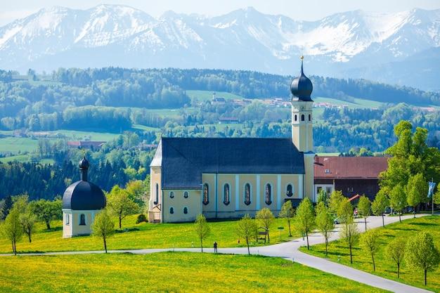 Igreja de wilparting irschenberg upper bavaria germany