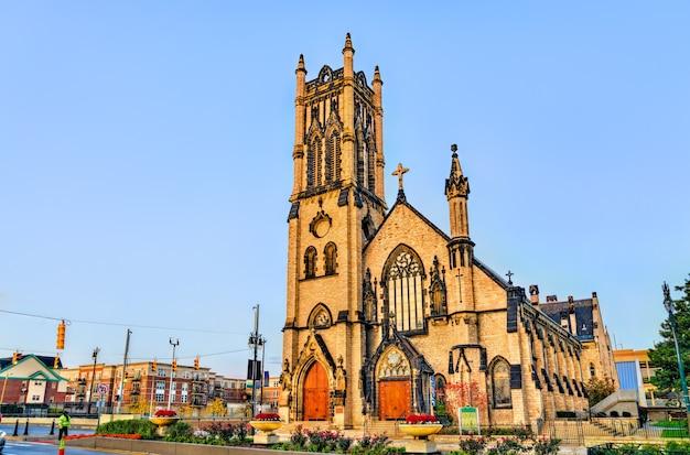 Igreja episcopal de st. john no centro de detroit michigan, estados unidos