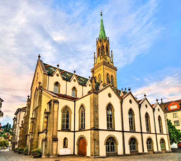 Igreja evangélica reformada de st. laurenzen em st. gallen, suíça