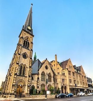 Igreja metodista central unida no centro de detroit michigan, estados unidos