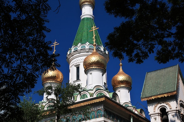 Igreja russa de saint nikolas, tsurkva sveta nikolai em sofia, bulgária