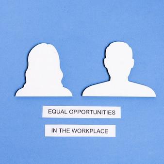 Igualdade de oportunidades no local de trabalho entre homem e mulher