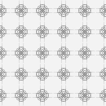 Ikat repetindo design de trajes de banho. design chique do verão do boho elegante preto e branco. aquarela ikat repetindo a borda da telha. têxtil pronto para impressão, tecido de biquíni, papel de parede, embrulho.