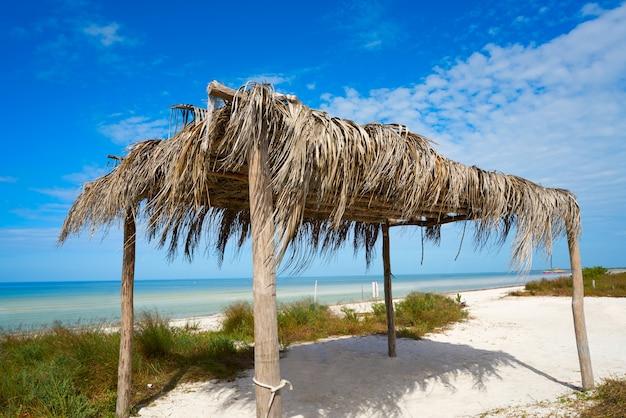 Ilha de holbox cabana de praia cabana no méxico
