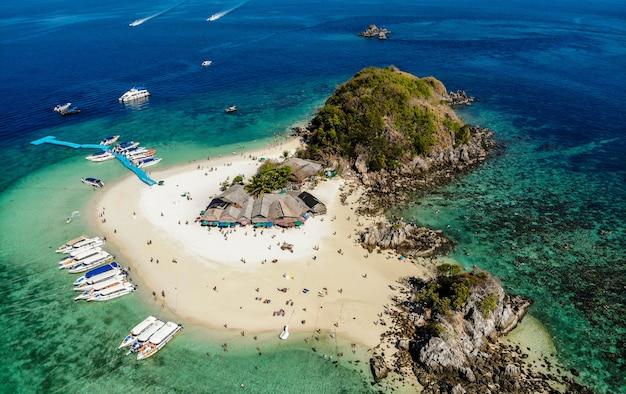 Ilha de khai nok, ilha de khai na atração turística de phang nga