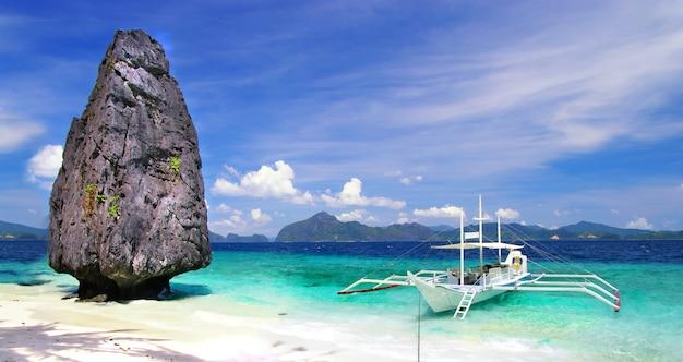 Ilha de palawan, ilha em el nido. viagens filipinas