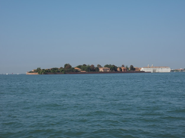 Ilha de san servolo em veneza