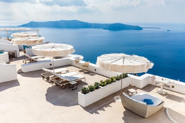 Ilha de santorini, vista da caldeira, grécia