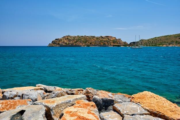 Ilha de spinalonga creta grécia