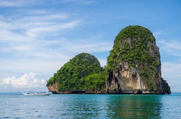 Ilha em krabi, tailândia