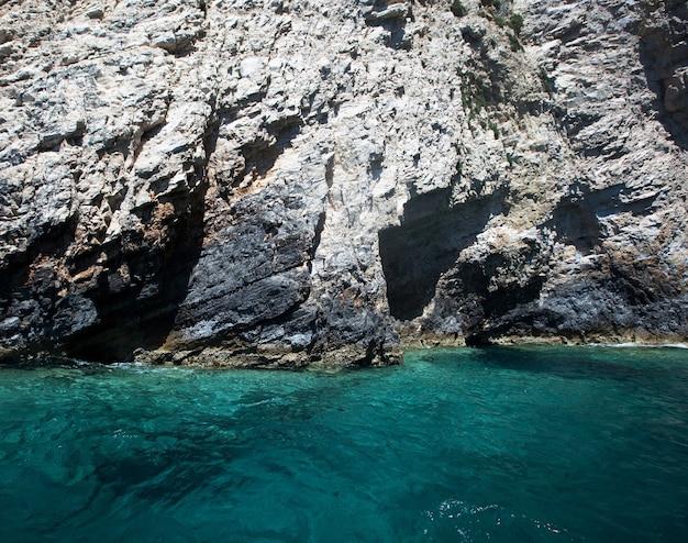 Ilha na grécia, zakinthos, foto de viagem, horário de verão