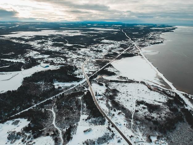 Ilha snowfield durante o dia
