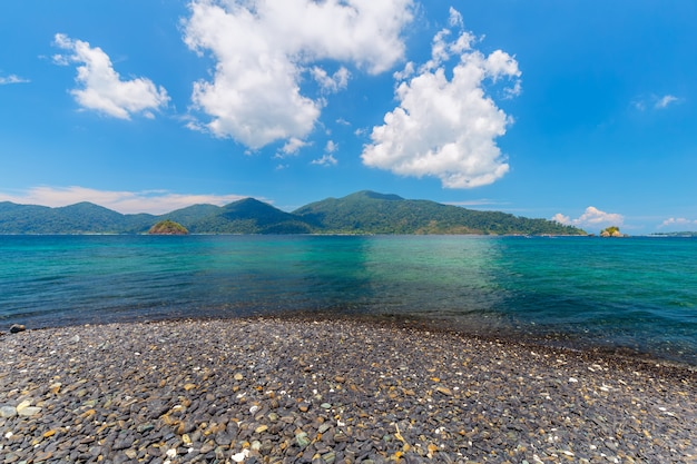 Ilha tropical, hin ngam, ilha, satun, província, tailandia