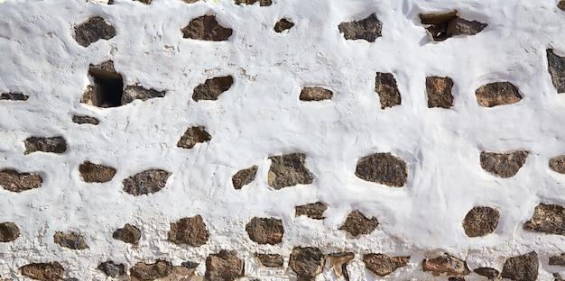 Ilhas canárias parede branca branqueada espanha