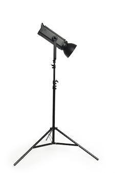 Iluminação de estúdio isolada no branco