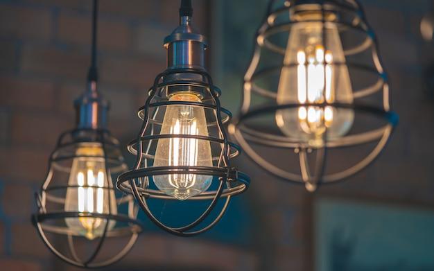 Iluminação de gaiola de teto vintage