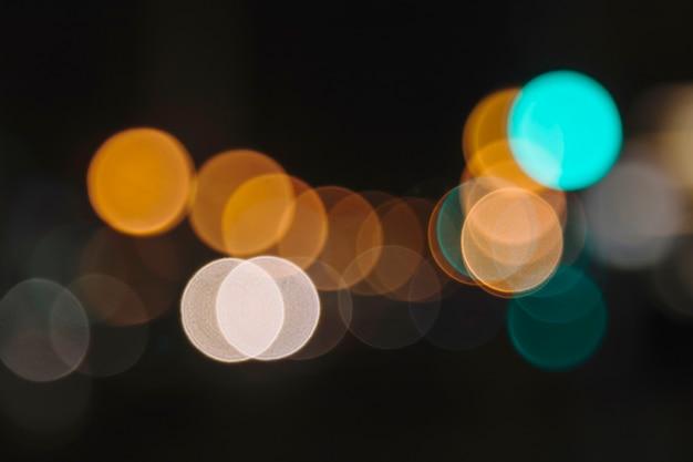 Iluminação de rua em close-up
