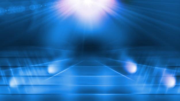 Ilumine a passagem com reflexo de lente