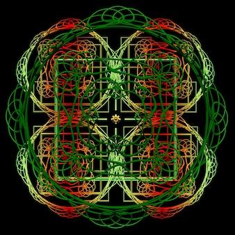 Ilustração 3d abstrata da mandala