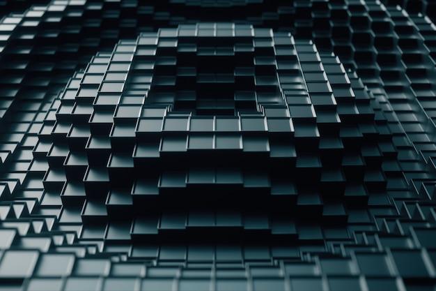 Ilustração 3d abstrata de cubos movendo para cima e para baixo