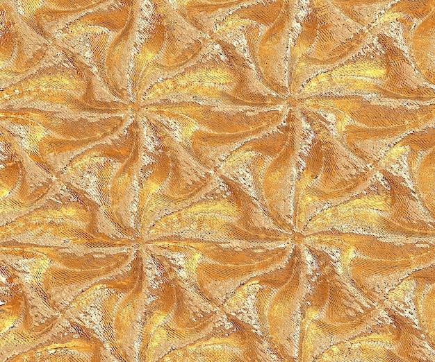 Ilustração 3d abstrata de luxo padrão dourado