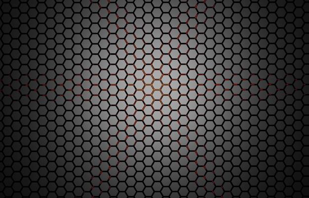 Ilustração 3d abstrato com hexágonos ilustração em mosaico de favo de mel de tecnologia futurista