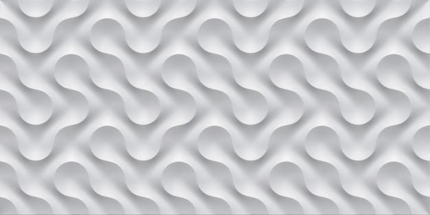 Ilustração 3d branco sem costura padrão acena luz e sombra