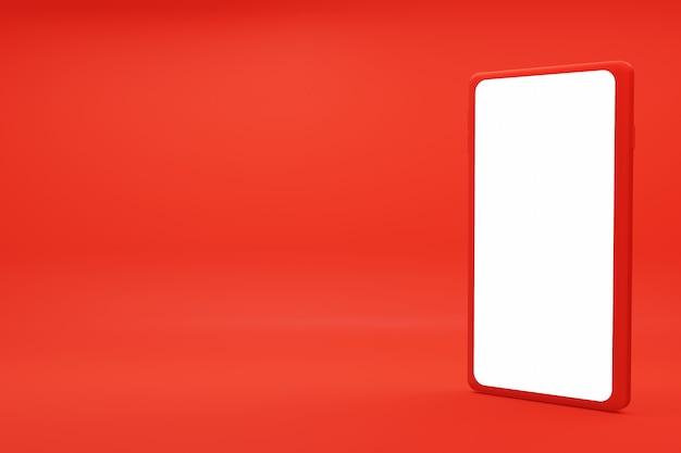 Ilustração 3d com imagem de alta qualidade de smartphone
