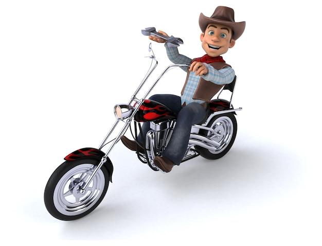 Ilustração 3d cowboy engraçado