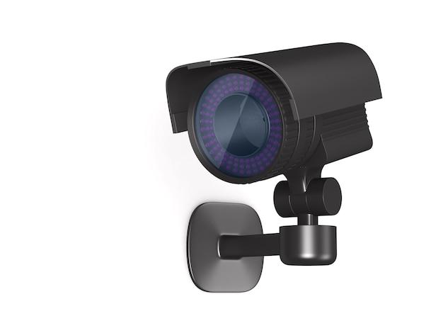 Ilustração 3d da câmera de segurança
