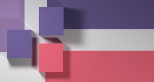 Ilustração 3d da forma geométrica abstrata de cor pastel, display minimalista moderno pódio ou vitrine