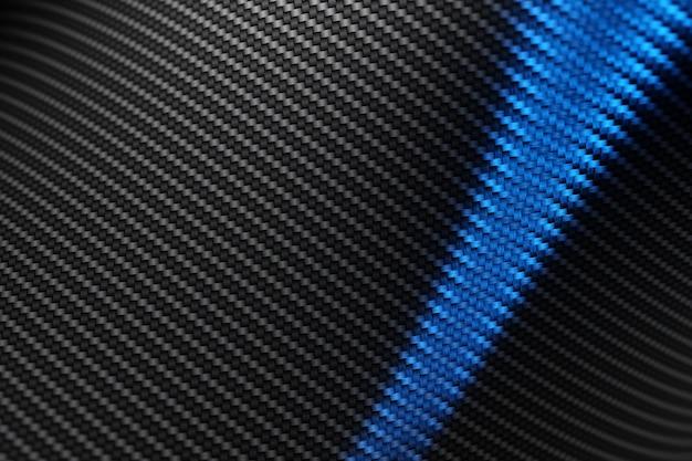 Ilustração 3d da malha de carbono preto sob luz azul. textura do grunge. padrão abstrato geométrico caótico grunge. cor de contraste brilhante mão desenhada plano de fundo texturizado.
