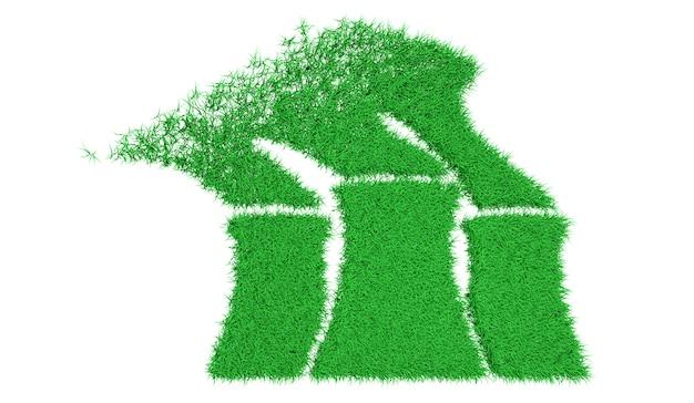 Ilustração 3d de arte conceitual ecológica