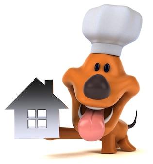 Ilustração 3d de cachorro engraçado