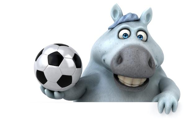 Ilustração 3d de cavalo engraçado