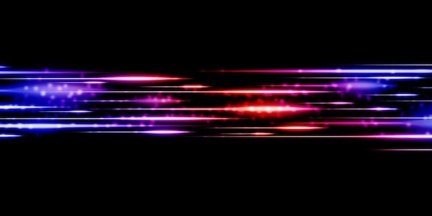 Ilustração 3d de design de padrão de tecnologia dinâmica de linhas de luz abstratas