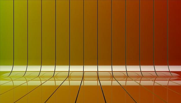 Ilustração 3d de fitas de cor.