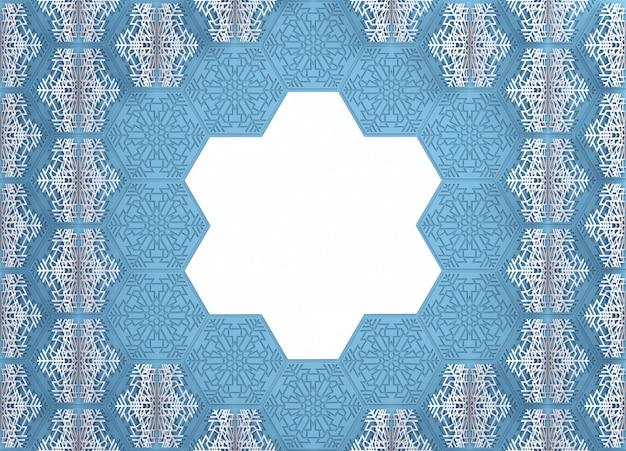 Ilustração 3d de flocos de neve de papel