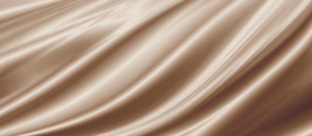 Ilustração 3d de fundo de textura de tecido marrom dourado