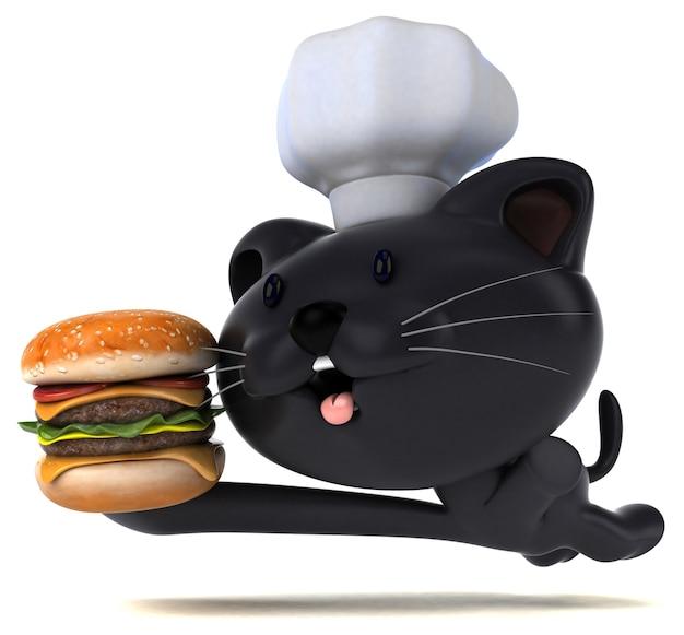 Ilustração 3d de gato engraçado Foto gratuita