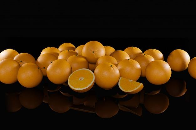 Ilustração 3d de laranjas