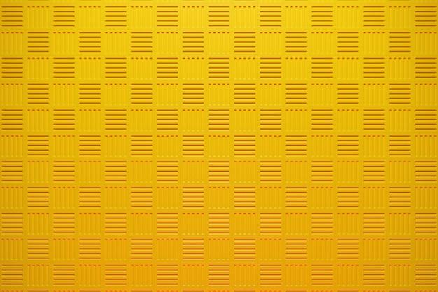 Ilustração 3d de linhas de quadrados amarelos conjunto de cubos em monocrome
