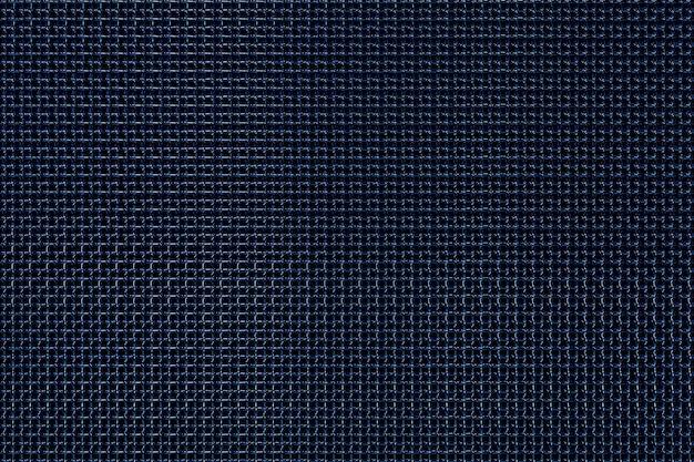Ilustração 3d de listras de parede metálica azul. conjunto de quadrados em fundo monocromático, padrão. fundo de geometria, padrão