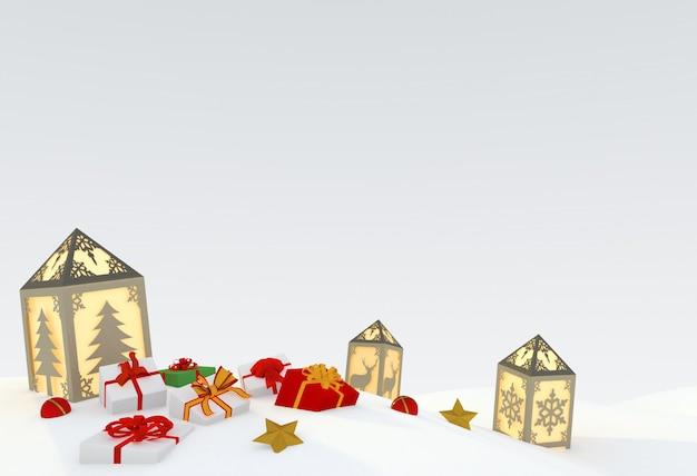 Ilustração 3d de natal