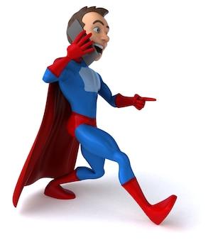 Ilustração 3d de super-herói engraçado