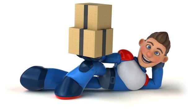 Ilustração 3d de super-heróis super modernos