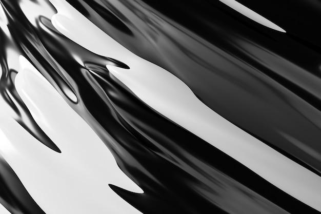 Ilustração 3d de um fundo branco e preto abstrato com círculos cintilantes e brilho. ilustração bonita. fundo abstrato com efeito rodopio
