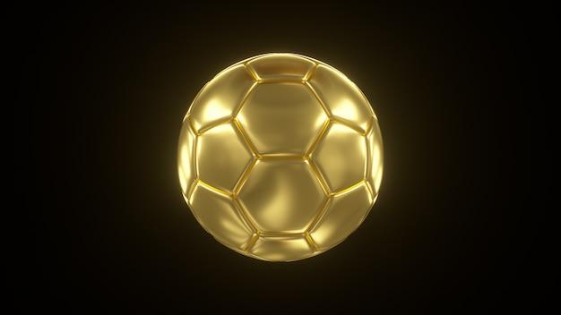 Ilustração 3d de uma bola de ouro