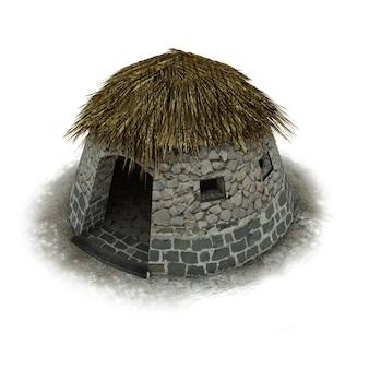 Ilustração 3d de uma casa antiga